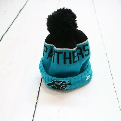 Nice YOUTH CAROLINA PANTHERS New Era Authentic NFL On Field Sideline Knit  for cheap
