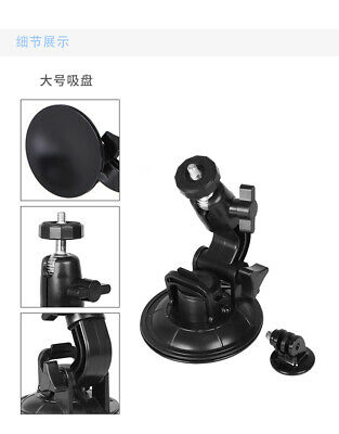 "Suction Cup Mount for GoPro Hero 1/2/3/3 + +1/4"" Tripod Mount Adapter (black) ED"