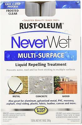 (2) Rust Oleum Never Wet Water Repellent Kits 274232 4 cans total NEW in BOX