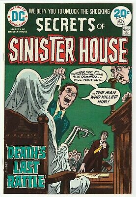 Secrets Of Sinister House #17 May 1974 Vf- 7.5 Dc Comics
