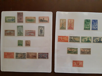 Collection of New Zealand stamps - Mint light hinge