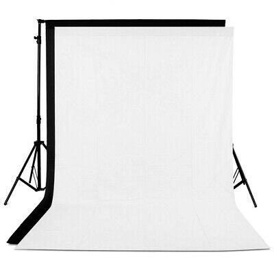 10x20ft Muslin Collapsible Backdrops Background 1 White and 1 Black