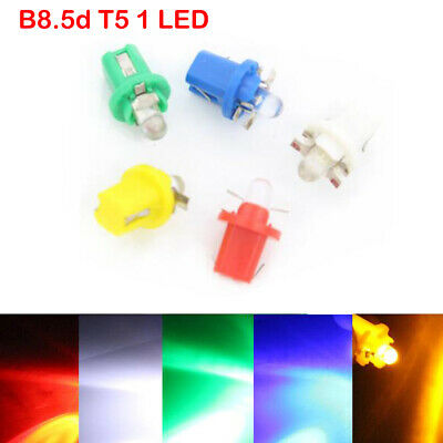 10X B8.5D T5 W3W Car Gauge LED Wedge Dashboard Dash Interior Light Bulb lamp 12V