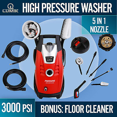 High Pressure Washer 3000PSI Cleaner Washer Electric Pump Hose Gurney Many Extra