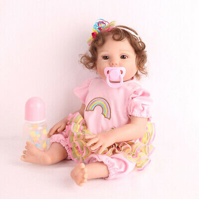 "16"" Reborn Baby Doll Full Body Silicone Anatomically Handmade Xmas Gifts Doll"