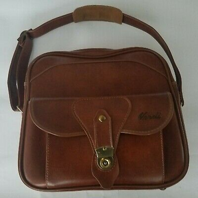 Verdi Vintage Leather Luggage Commuter/Computer Bag With Shoulder Strap