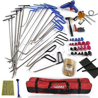52x Auto Car Body Paintless Dent Testing Removal Rods Hand Repair Tools Kit US