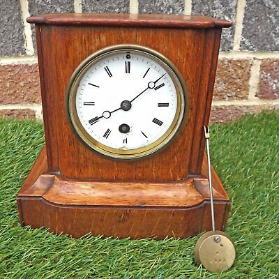 Japy Freres #2605 c 1855+ Mantle Clock Wooden Cottage Case In Need Of Attention