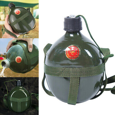 1.5L Large Capacity Army Military Cadet Camp Hiking Aluminum Drinks Water Bottle