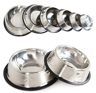Travel Feeding Feeder Stainless Steel Pet Dog Cat Puppy Food Bowl Water Dish