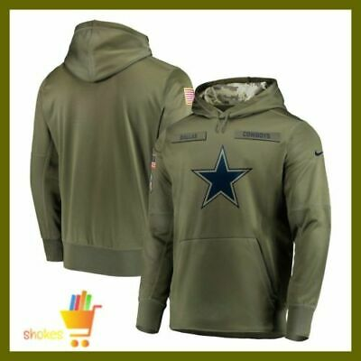 huge discount 10eef b7be5 NEW DALLAS COWBOYS Salute to Service Olive NFL hoodie 2019 American  Football USA