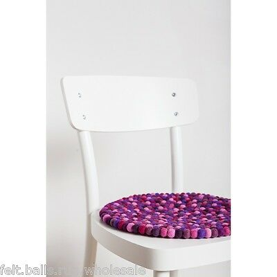 Multicolored Square Seat Pad 36 x 36 cm Felted 100/% Wool Felt Ball Chair Cushion