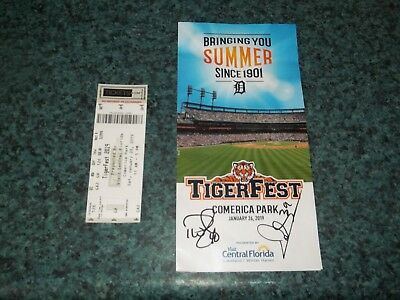 2019 Detroit Tigers TigerFest Brochure and ticket