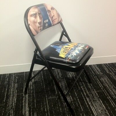 Official WWE WrestleMania 29 chair from 2013. The Rock vs John Cena