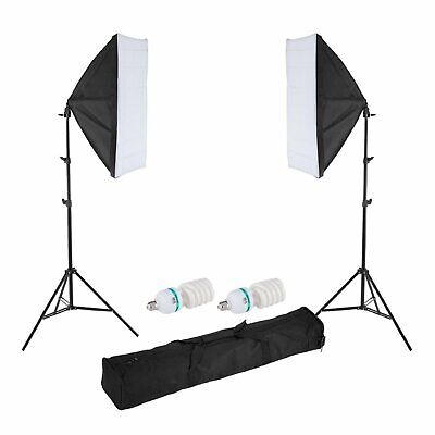 GS Selens 1200W Photography Studio 50x70cm Softbox Continuous Lighting Stand Kit