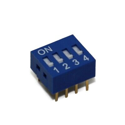 2x DSR-04 Switch DIP-SWITCH Poles number4 ON-OFF 0.05A/12VDC -20÷70°C