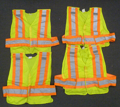 Lot of 4 Iron Horse Safety High Visibility Reflective Public Safety Vests