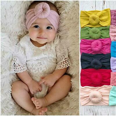 Baby Nylon Soft Head Wrap Turban Top Knot Headband Newborn Girl Accessories