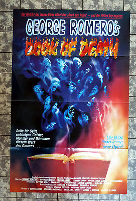 BOOK OF DEATH * A1-FILMPOSTER German 1Sheet 57x89cm GEORGE A. ROMERO 1980er ´80s