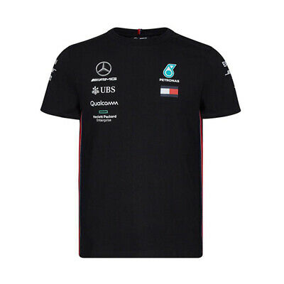 Mercedes AMG Petronas F1 Motorsport Drivers T-shirt Black Official 2019 UK STOCK