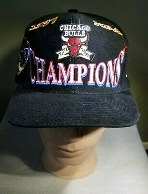 74a4dc36162 RARE VINTAGE LOGO ATHLETIC Chicago Bulls 1997 NBA Champions Snapback ...