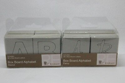 Scrapbook Chipboard Alphabet NEW  x2 Stencil and Fancy