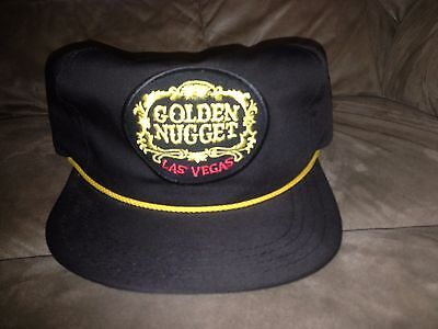 Vtg Brown Golden Nugget Las Vegas Snapback Hat made in usa by american workers
