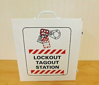 NMC 18 Piece Equipped Steel Lockout Cabinet LOC1 DAMAGED