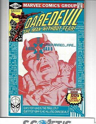 Daredevil #167. Nm-. Miller Art (Bagged & Boarded) Freepost. Cent Copy.