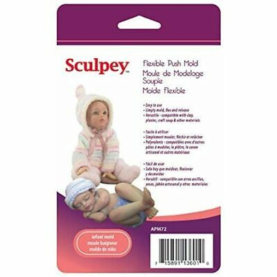 Polyform Silicone Sculpey Flexible Push Mold-infant Doll - Moldinfant Molds