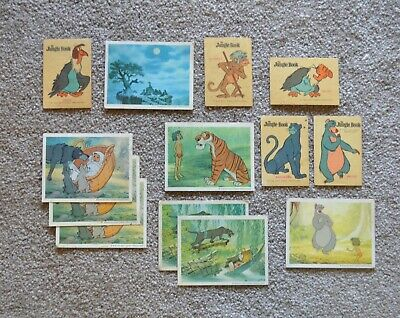 Vintage Trading Swap Cards - Jungle Book 1960's Cereal Snack
