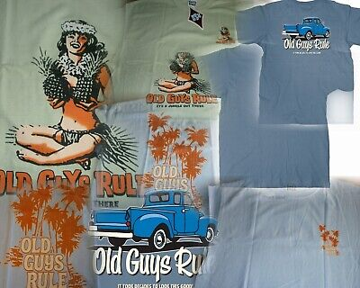 3833e99b 3 Old Guys Rule Island Life Vacation And Truck Themed Size Xl You Get All  Three
