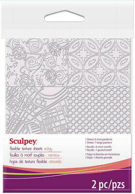 Sculpey Flexible Texture Makers Sheets Edgy BEST VALUE IN EUROPE