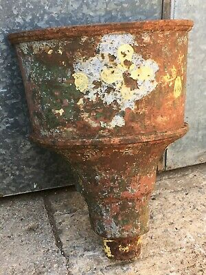 49cm High Salvaged Victorian Large Cast Iron Half Round Gutter Hopper