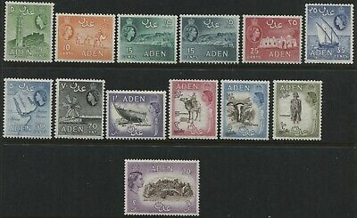 Aden 1953 QEII various definitives to 20/ mint o.g.