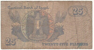 Egypt 25 Piastres African World Paper Money Banknote Circulated
