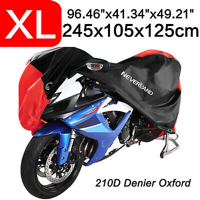 XL 210D Oxford Dust Motorcycle Cover Waterproof Outdoor Rain Scooter Protection