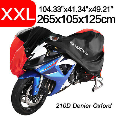 XXL 210D Oxford Motorcycle Cover Waterproof Outdoor Rain Dust Protection
