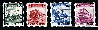 Hick Girl Stamp-Old Used German  Stamps  Sc#459-62  1935   Railroad     M960