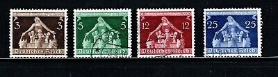 Hick Girl Stamp-Old Used German  Stamps  Sc#473-76  1936   Symbolic    M967