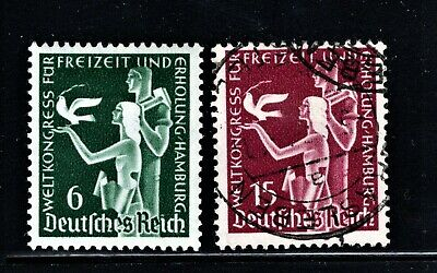 Hick Girl Stamp-Old Used German  Stamps  Sc#477-78  1936   Allegory   M968
