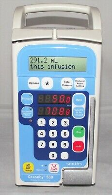 Smiths Graseby 500 Infusion Fluid Administration Pump - Blue Face