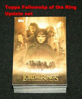 2002 Topps Lord of the Rings The Fellowship of the Ring Complete Update Set