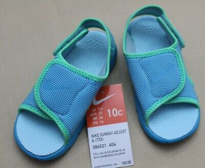 08646b1d7 New Infant Toddler Blue green Nike Sunray Adjust 4 athletic sandals shoes 10