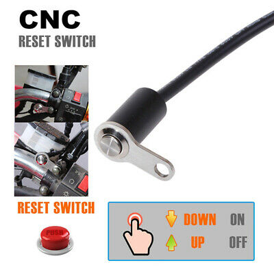 12V Universal Motorcycle Handlebar Reset Switch Button Engine ON/OFF Waterproof