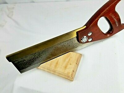 "BEAUTIFUL BRASS BACK Tenon-Dovetail-Saw-10"" Long 16 tpi.; SPEAR & JACKSON, UK"