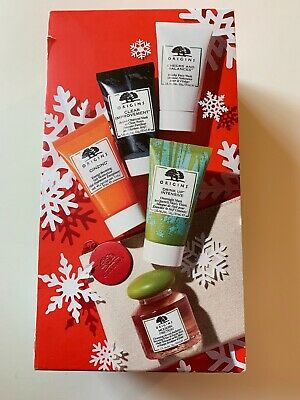 Origins 5 Star Faves Gift Set, with Ginzing, Modern Friction,Drink Up Mask NIB