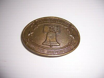 Vintage 1776-1976 Liberty Bell Ring for Independence Bicentennial  Belt Buckle