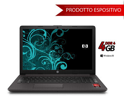 "hp 255 g6 15,6 "" hdd 500 gb 4gb Ram Pronto all'uso con win 10 pro ed Open Office"