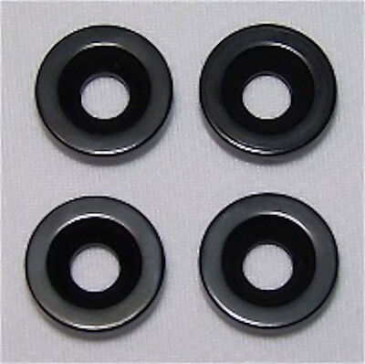 Guitar Parts - SET of 4 - BUSHINGS FERRULES - For Neck Mounting - BLACK